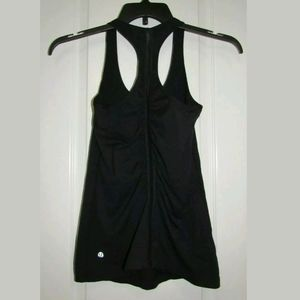 S Lululemon Black Racerback Tank Top